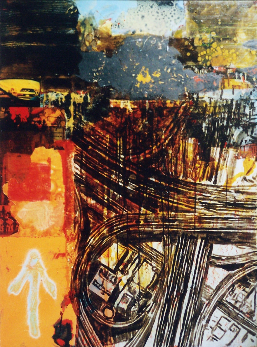 Arrow, 1999, oil and enamel on board, 1,2x0,9m