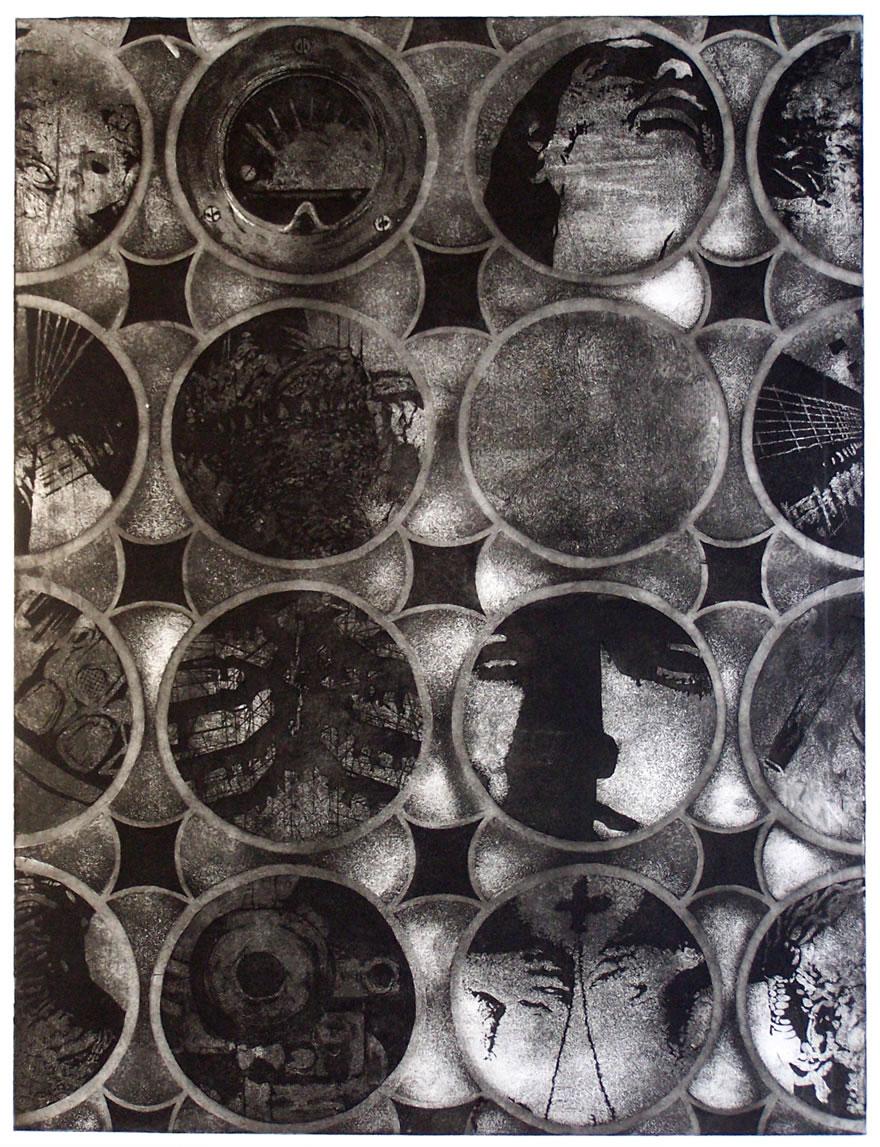 Circles Etching 59x45cm 1992