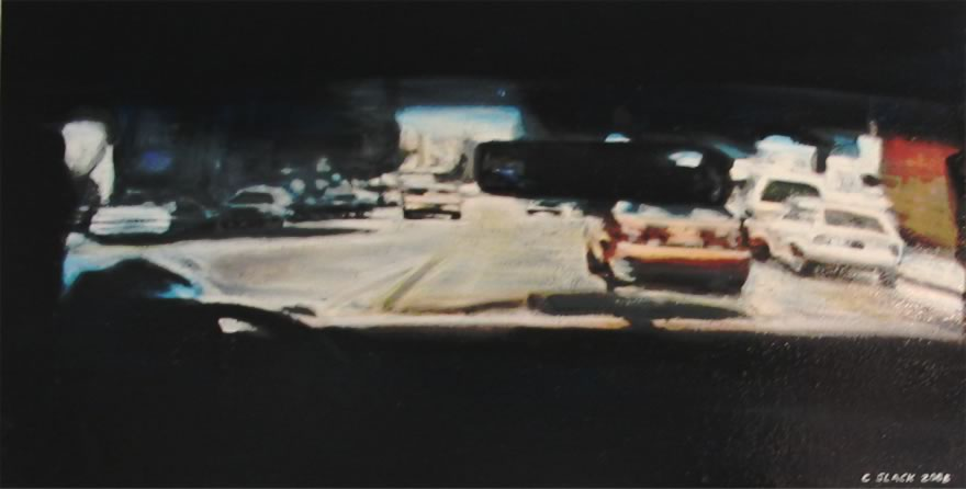 Crime Scene 1, 2005, enamel on board, 0,3x0,6m