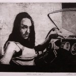 Death Babe no2, 2007, Etching, 16,5x20,5cm