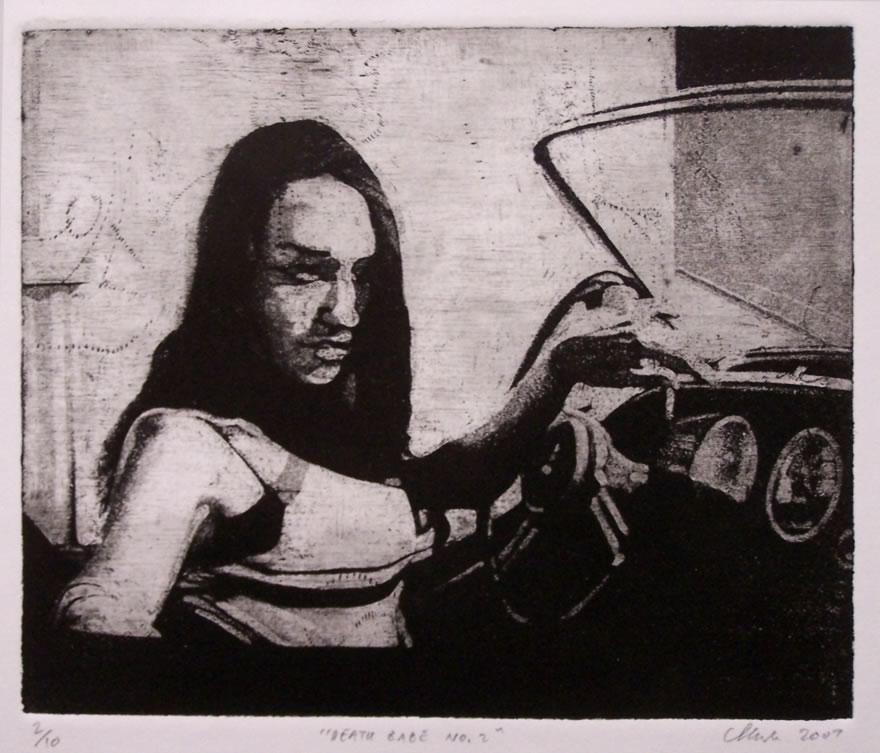 Death Babe no2, 2007, Etching, 16,5x20,5cm