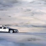 Death Valley Chase, 2010, Enamel On Board, 40x60cm
