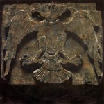 Double-headed eagle, 2008, mixed media on board, 1,2x1,2m
