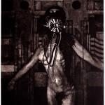 Gasmask Etching 45x30cm 1991