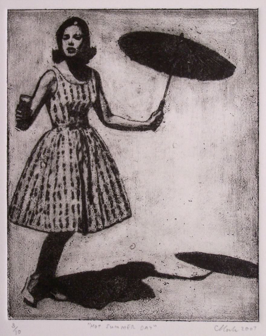 Hot Summer Day, 2007, Etching, 25x16,5cm