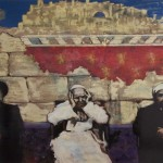 Jerusalem,2010, mixed media on board, 1,2x1,6m