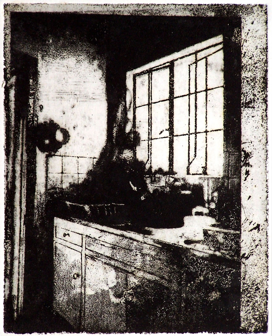 Kitchen Sink Etching 20x16cm 1996