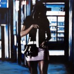 Late Night Shopping 2, 2012, Enamel On Board, 45x60cm