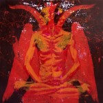 Lotus Position#6(Devil), 2010, enamel on board, 1,2x1,2m