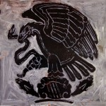 Mexico eagle, 2008, mixed media on board, 1,2x1,2m
