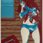 On Guard, ed.45, woodcut, 143x103mm, 2005