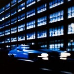 Parking Garage At Night2 , 2012, Enamel On Board, 40x60cm