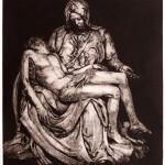 Pieta, 2008, Etching, 20x18,5cm