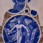 Priestess Of Baal 2010 1,6x1,2m Enamel On Board