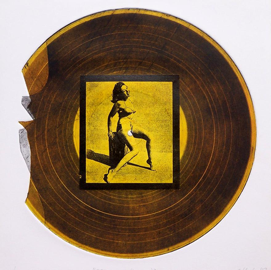 Record 2 Intaglio And Chine Colle 30x30cm 1997