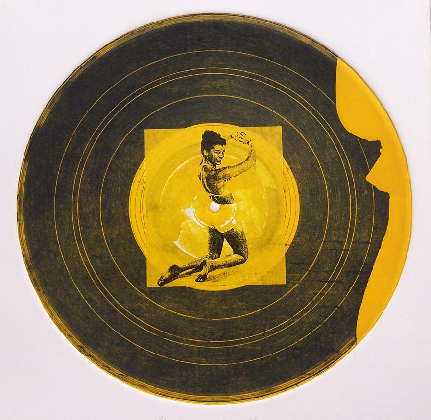 Record 9 Intaglio And Chine Colle 30x30cm 1997