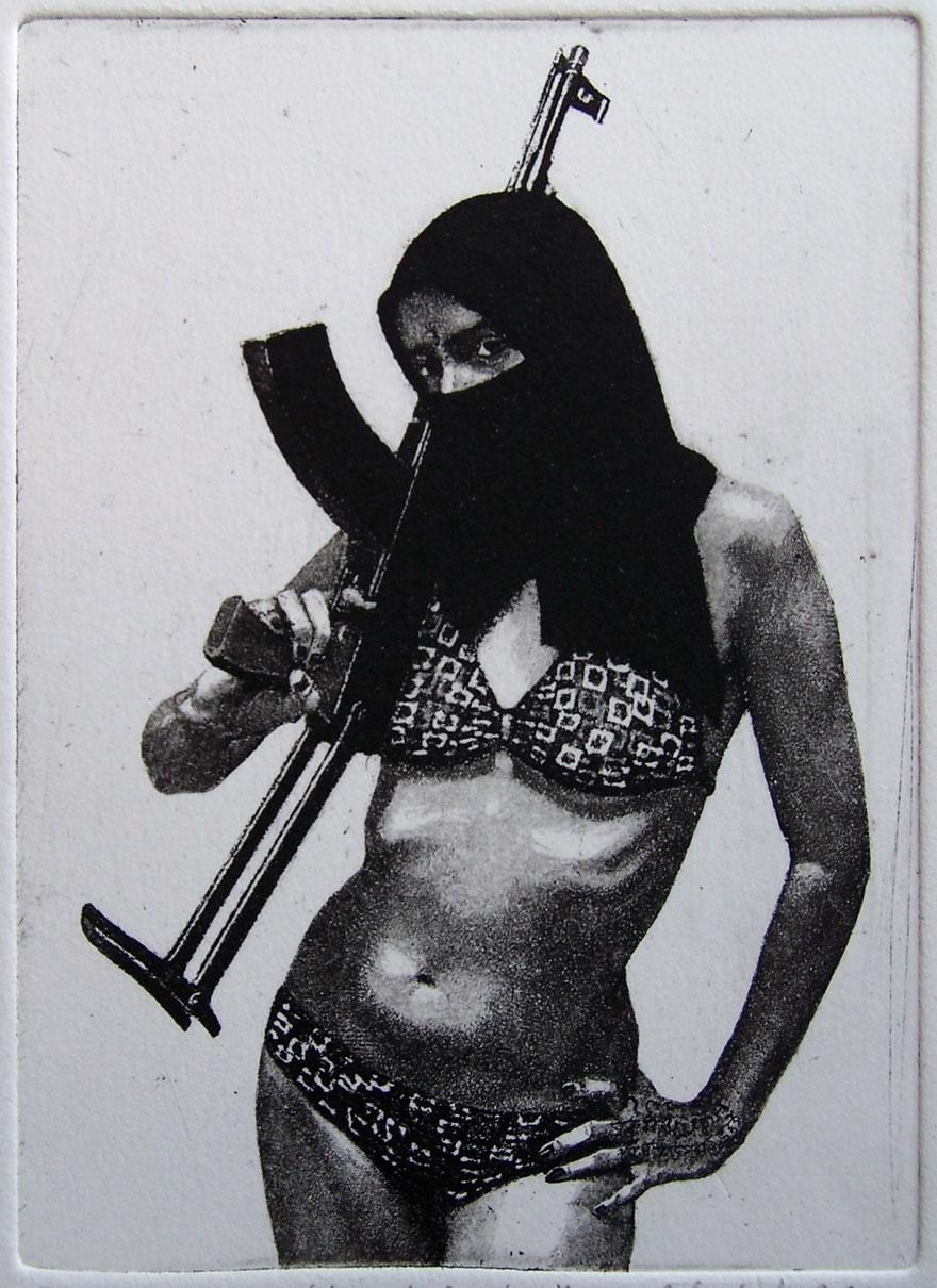 Shamila #1, etching and aquatint, 15x11cm, 2011