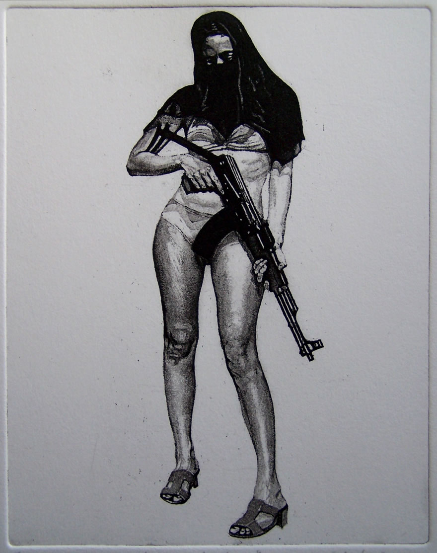 Shamila #4, etching and aquatint, 15x11cm, 2011