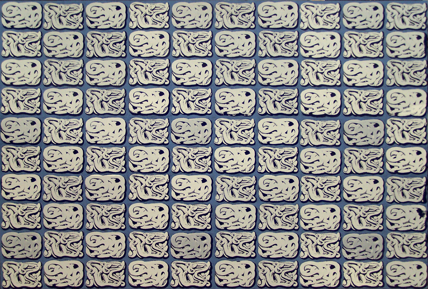 Snakes (coiled) Enamel On Board 1,2x1,8m 2012