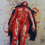 Surrender, 2008, enamel on board, 1,2x1,2m