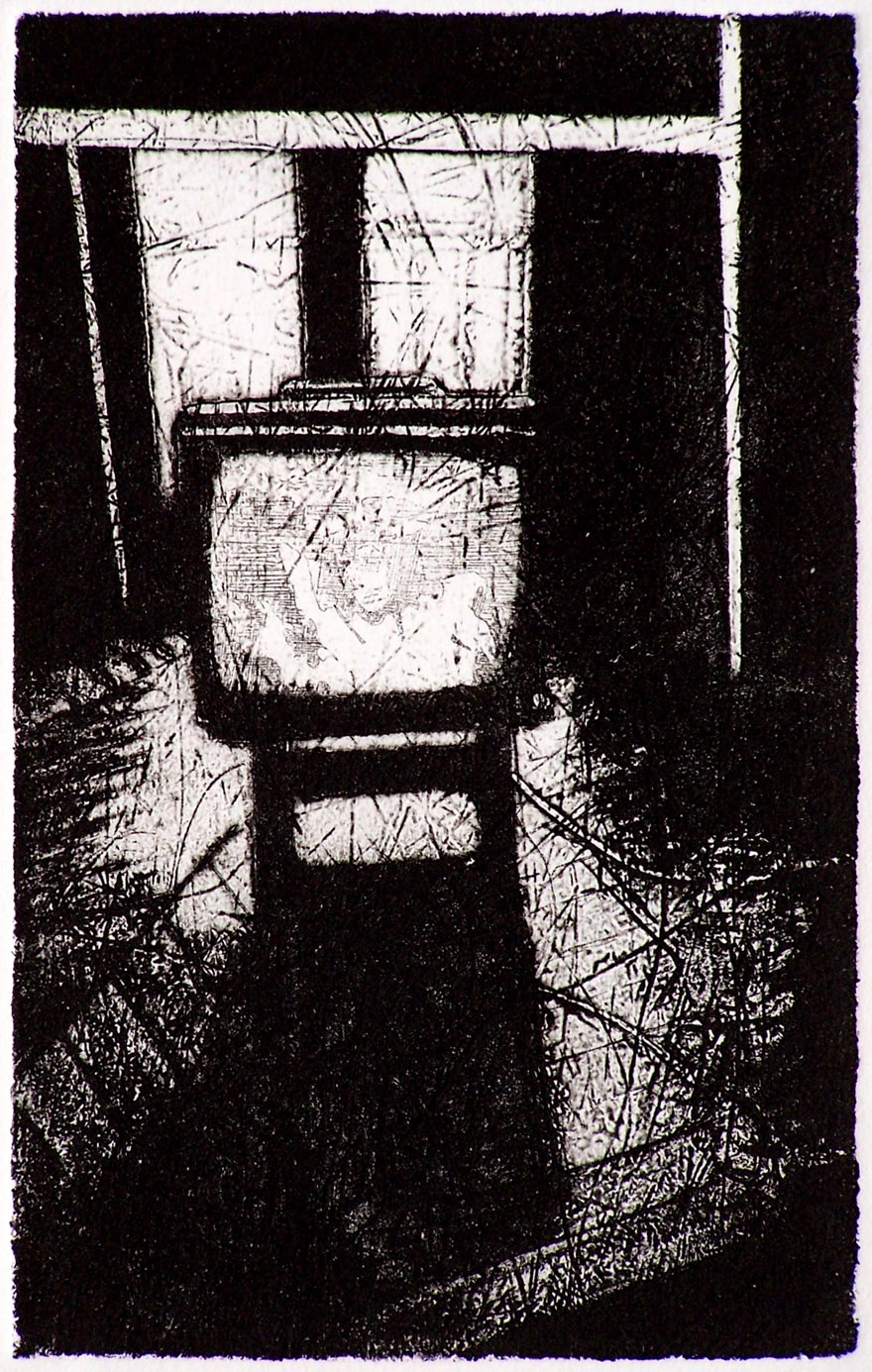 TV2 Etching 20x13cm 1992