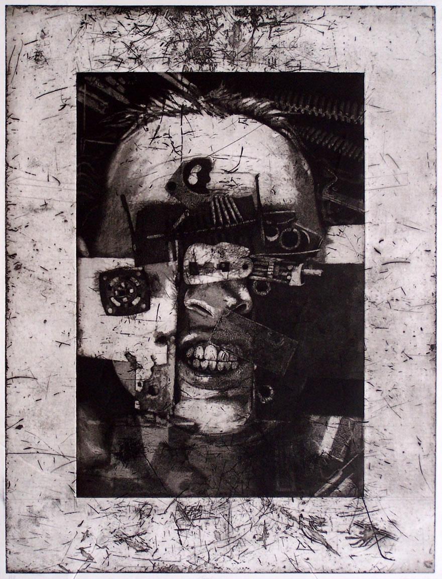 Teeth Etching 59x45cm 1992