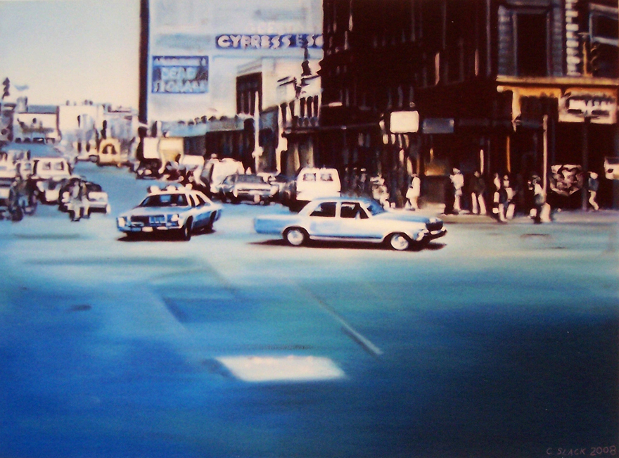 The Chase, 0,95x1m 2008, oil on canvas, 0,75x1m