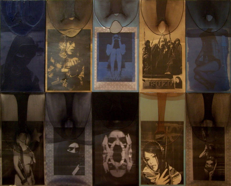 The Revelation of the Veiled pt.2, 2003, 1,2x1,6m, Mixed-media