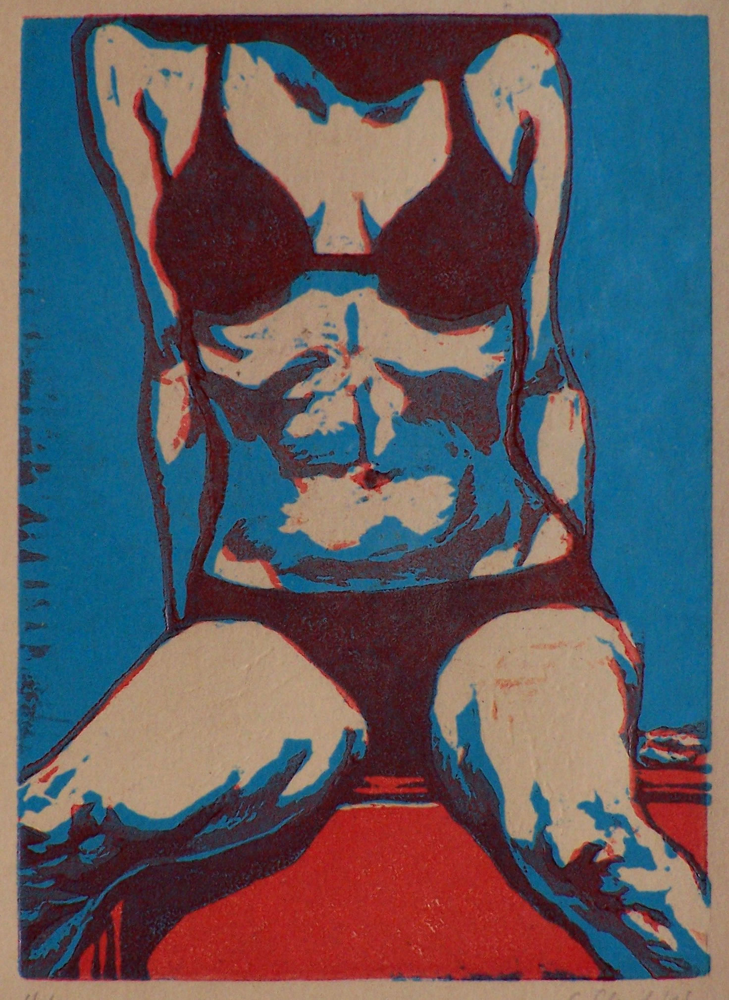 Torso, woodcut, ed.84, 143x103mm, 2005