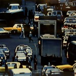 Traffic, 2008, enamel on board, 0,9x1,2m