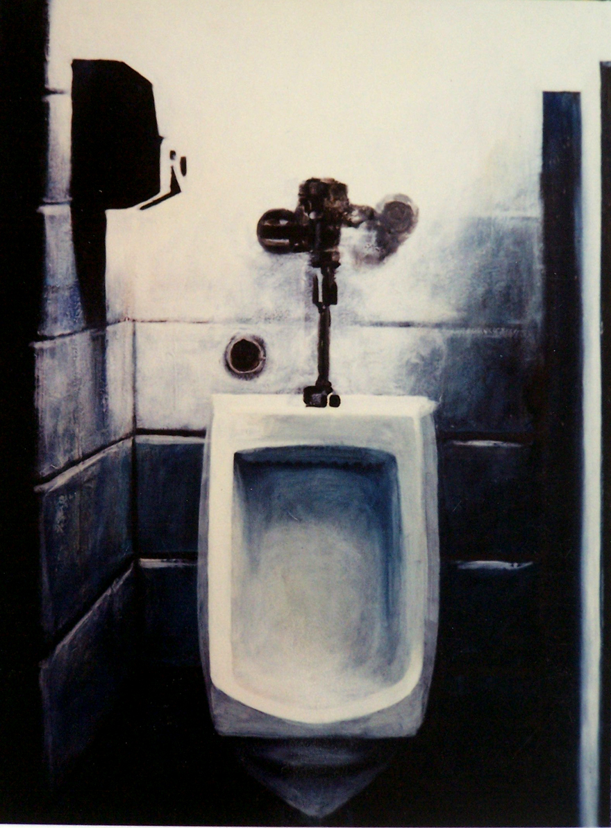 Urinal with Electric Hand-dryer, 1995, enamel on board, 1,2x0,9m