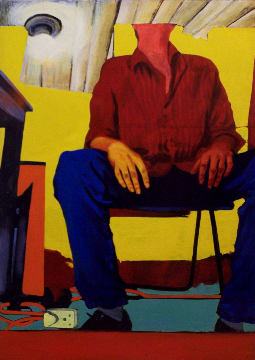 Yellow Room,1997, oil and enamel on board, 1,2x0,85m