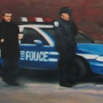 Crime Scene 2, 2005, enamel on board, 0,3x0,6m