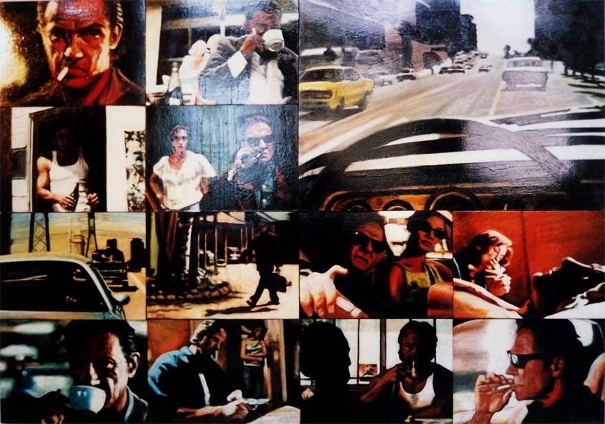 Harvey Keitel, panel 1, 2003, enamel on board, 1,2x1,8m