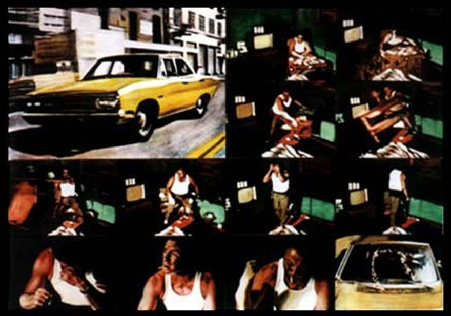 Harvey Keitel, panel 2, 2003, enamel on board, 1,2x1,8m