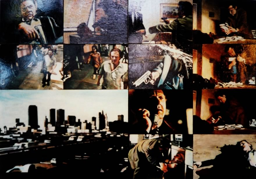 Harvey Keitel, panel 3, 2003, enamel on board, 1,2x1,8m