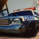 Police , 2005, enamel on board, 0,9x1,2m