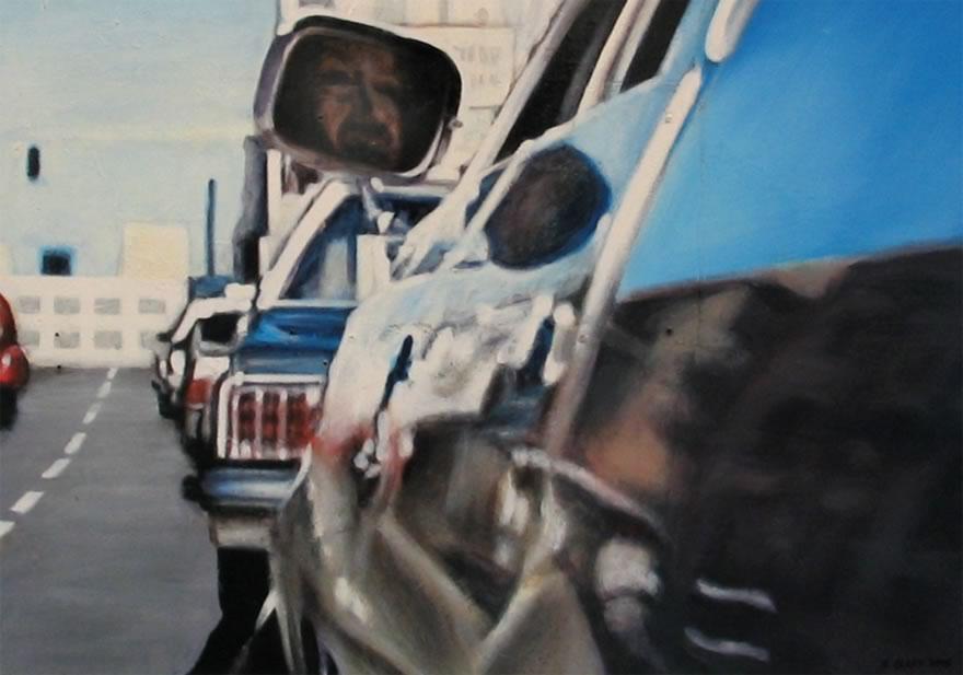 Reflection, 2005, enamel on board, 0,6x0,9m