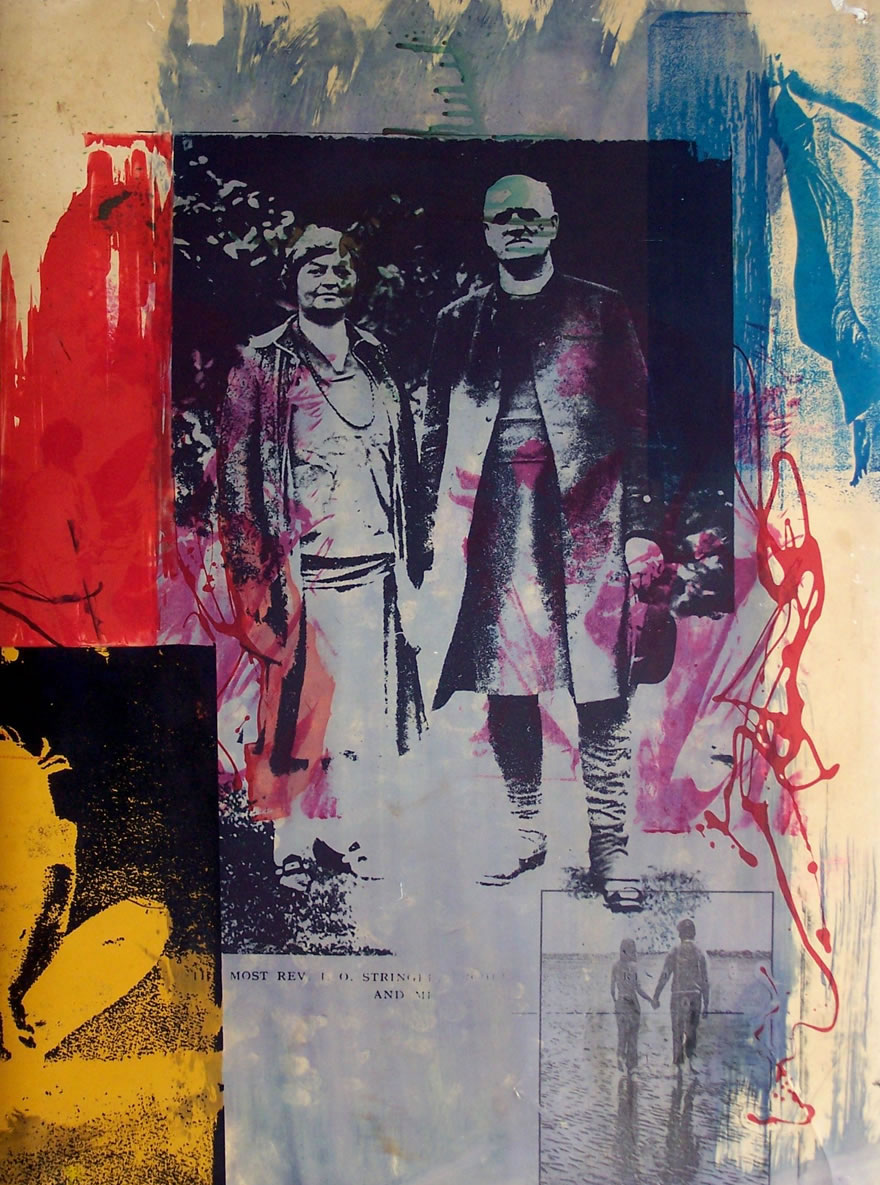 Reverend Stringer And His Wife no3 84x60cm 1996 Mixed-media Print