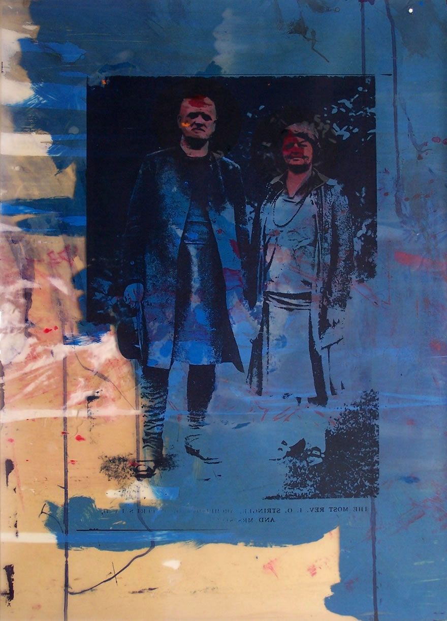 Reverend Stringer And His Wife no4 84x60cm 1996 Mixed-media Print