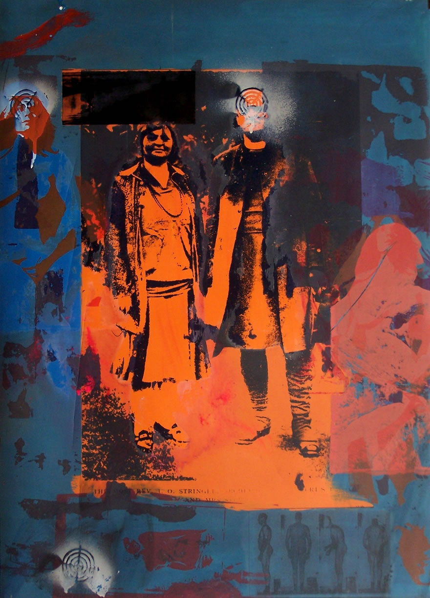 Reverend Stringer And His Wife no7 84x60cm 1996 Mixed-media Print