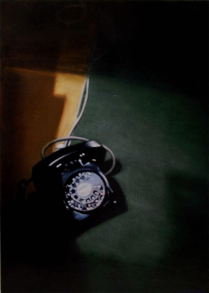 Telephone, 2007, enamel on board, 1,2x0,9m