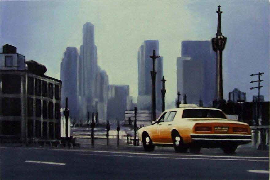 Yellow Cab At Dawn