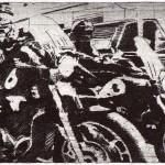 Highway Patrol Etching 12x20cm 1996