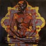 Lotus Position #3 (Temple), 2010, enamel on board, 1,2x1,2m
