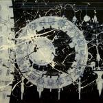 Mayan Clocks Enamel On Board 1,2x1,8m 2012
