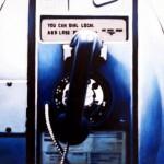 Phone Booth, 2012, Enamel On Board, 45x60cm