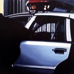 Police Car, 2012, Enamel On Board, 45x60cm