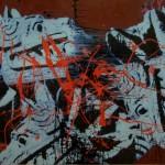 Quetzalcoatl 1 Enamel On Board 1,2x1,8m 2012
