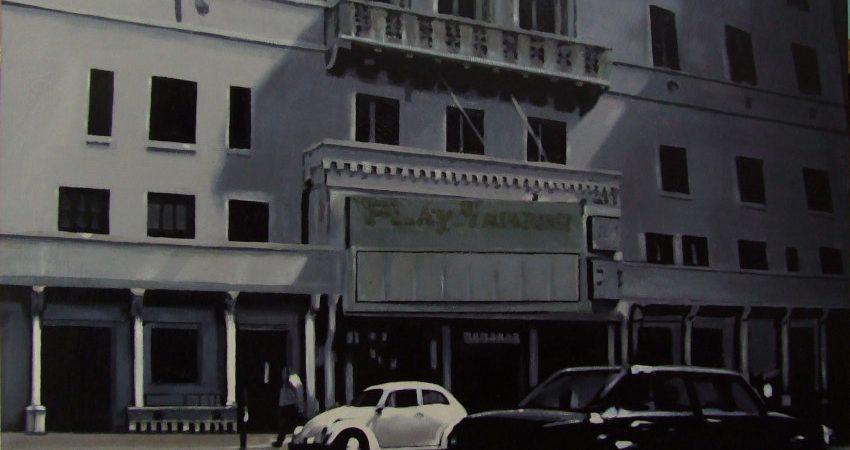 Old Cinema Block-mixed media on board-2019-52x76cm